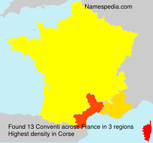 Surname Conventi in France