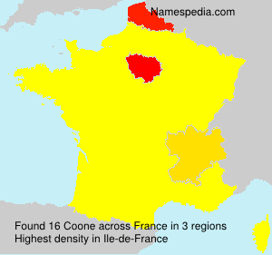 Surname Coone in France
