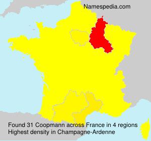 Familiennamen Coopmann - France