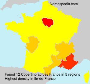 Surname Copertino in France