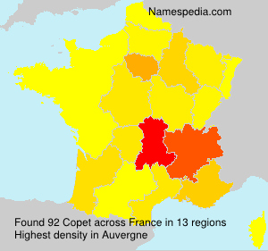 Surname Copet in France