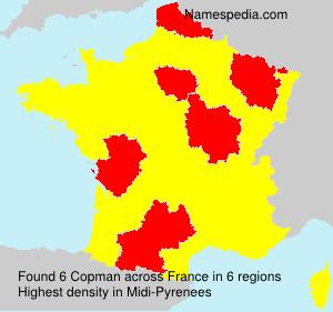 Familiennamen Copman - France