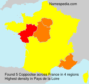 Surname Coppoolse in France