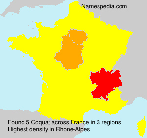 Surname Coquat in France