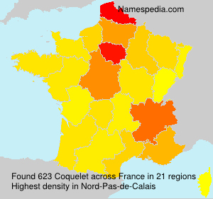 Surname Coquelet in France