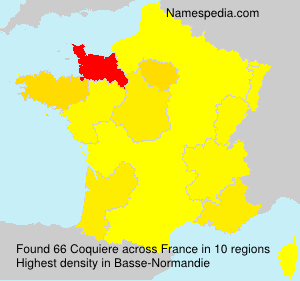 Surname Coquiere in France