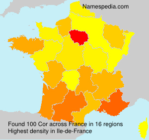 Surname Cor in France