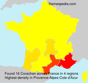 Surname Corachan in France