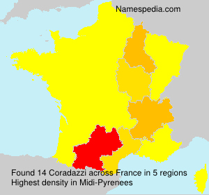 Surname Coradazzi in France