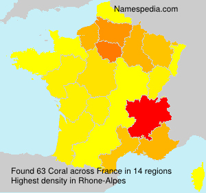 Surname Coral in France