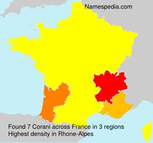 Familiennamen Corani - France