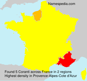 Surname Coranti in France