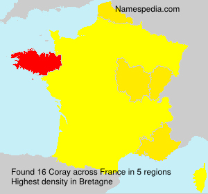 Surname Coray in France