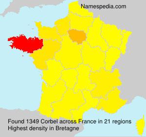 Surname Corbel in France