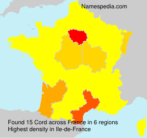 Surname Cord in France