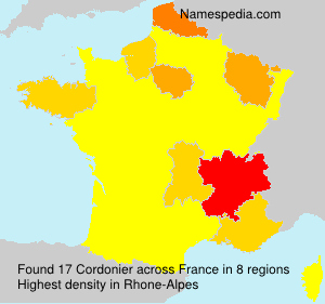 Surname Cordonier in France