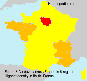 Surname Cordoval in France