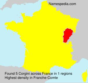 Surname Corgini in France