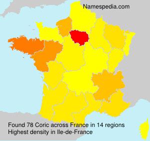 Familiennamen Coric - France