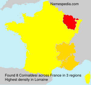 Surname Corinaldesi in France