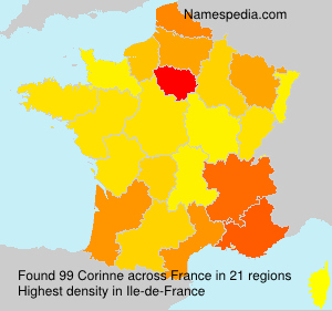 Surname Corinne in France
