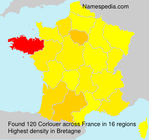 Surname Corlouer in France