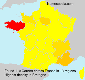 Familiennamen Cornen - France
