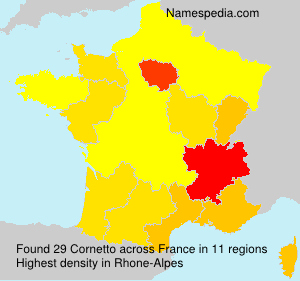 Surname Cornetto in France