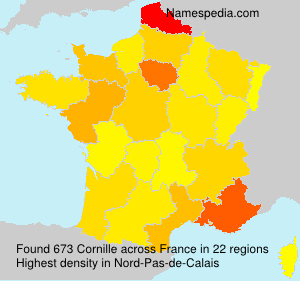 Surname Cornille in France