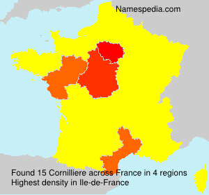 Surname Cornilliere in France