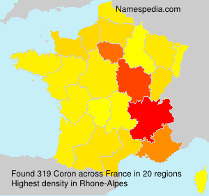 Surname Coron in France