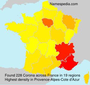 Surname Corona in France