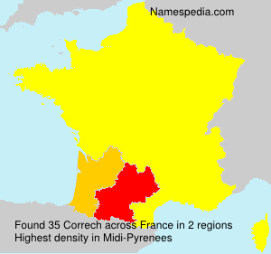 Surname Correch in France