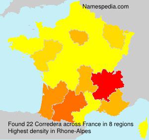 Familiennamen Corredera - France