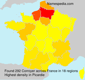 Surname Corroyer in France