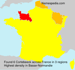 Surname Cortebeeck in France