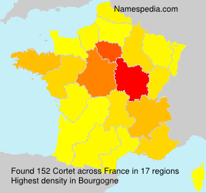 Surname Cortet in France