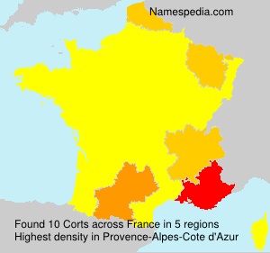 Surname Corts in France