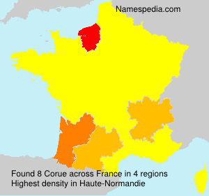 Surname Corue in France