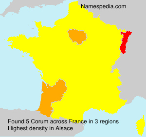 Surname Corum in France