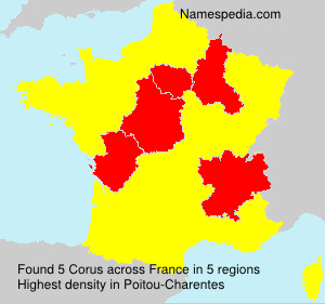 Surname Corus in France