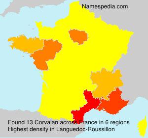 Familiennamen Corvalan - France