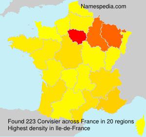 Surname Corvisier in France