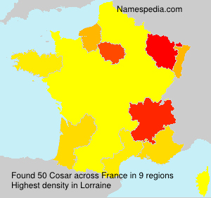 Surname Cosar in France