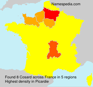 Surname Cosard in France