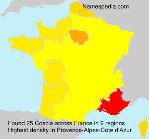 Surname Coscia in France