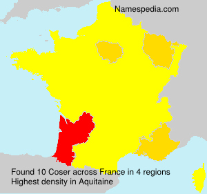 Surname Coser in France