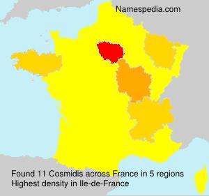 Surname Cosmidis in France