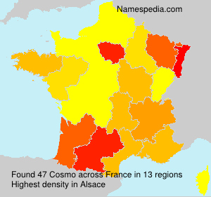 Surname Cosmo in France