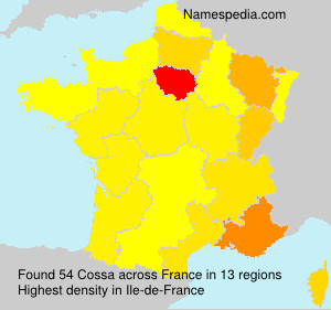 Surname Cossa in France